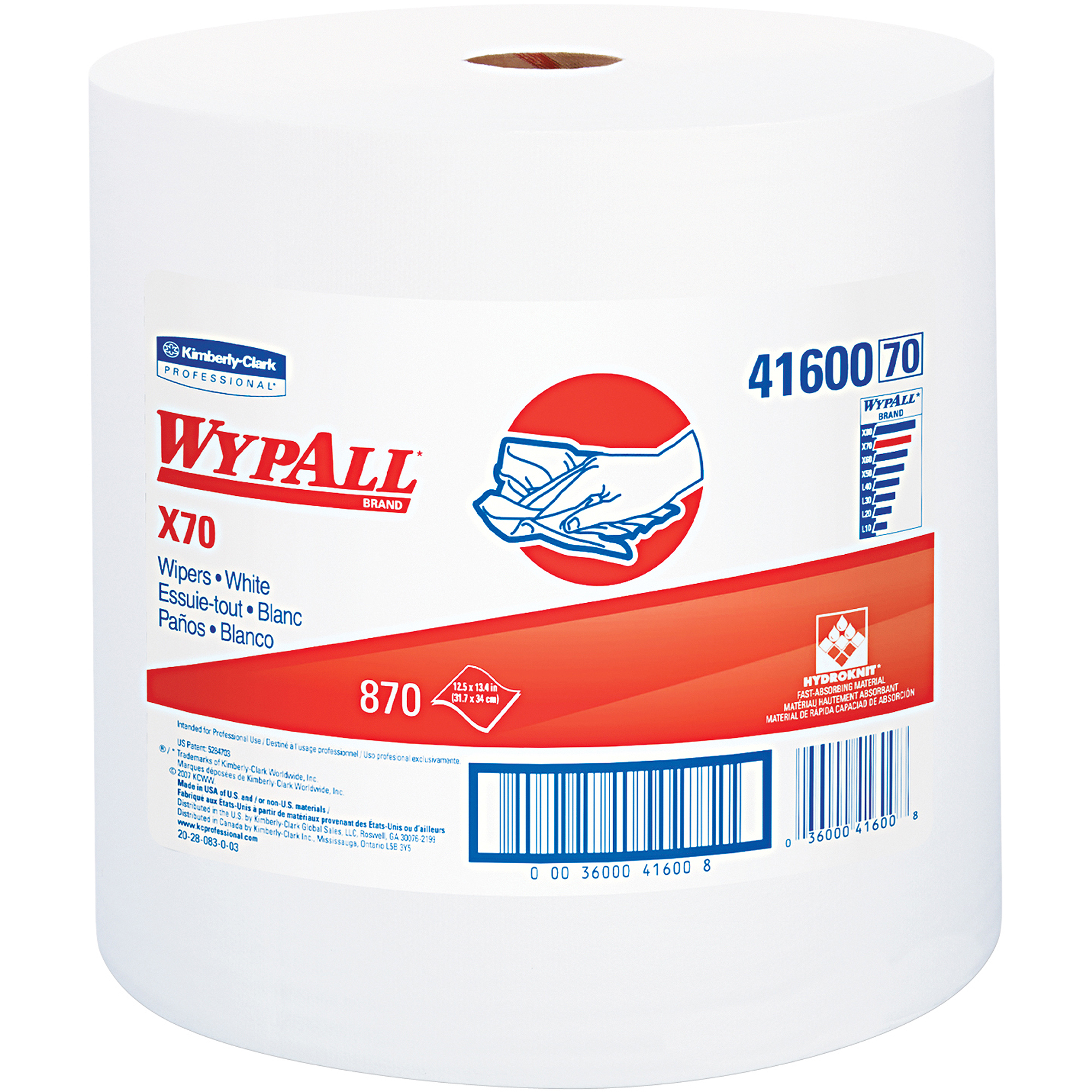 Kimberly-Clark Professional Wypall X70 Wipers Jumbo Roll, 870 sheets
