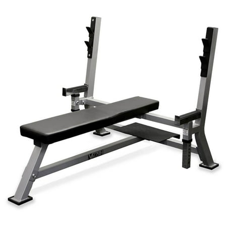 - Olympic Bench w Spotter Stand in Diamond Steel Plate