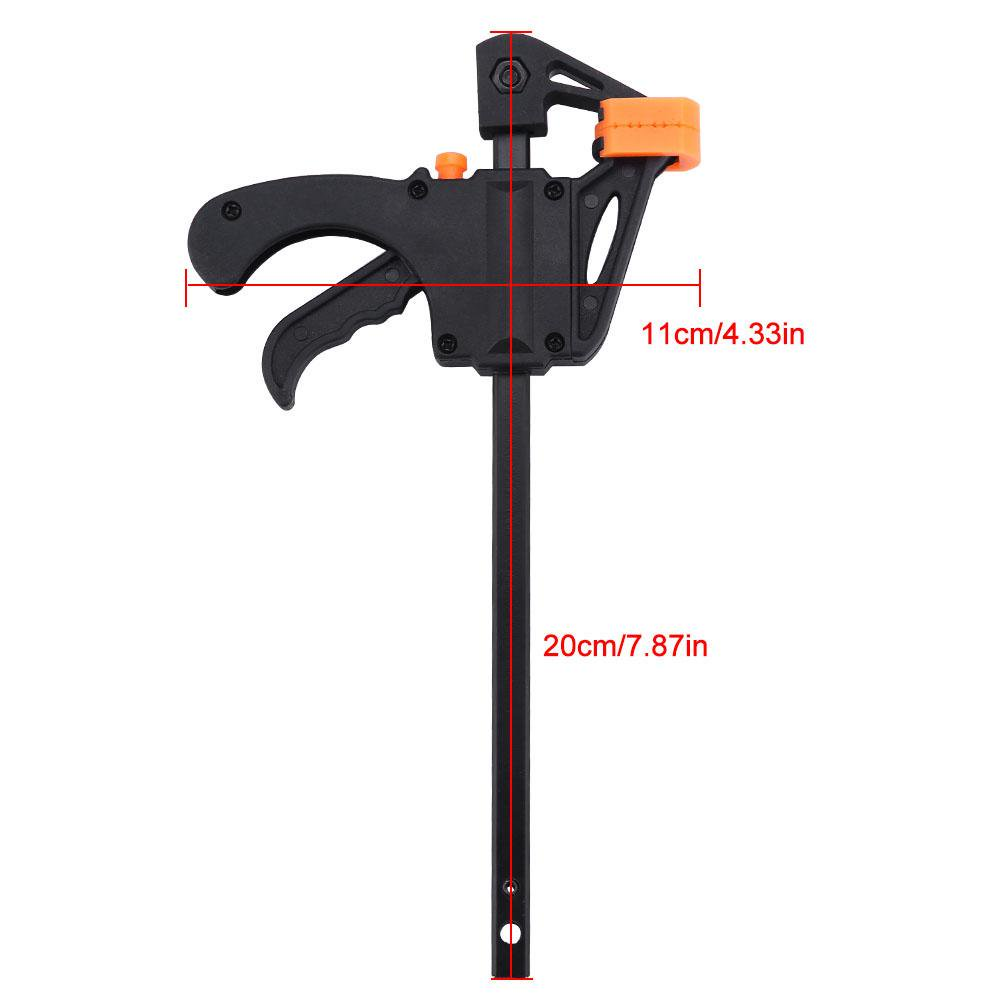 yosoo 4pcs 4inch bar f clamps clip grip quick ratchet release woodworking  diy hand tool kit, woodworking f clamp, f clamps