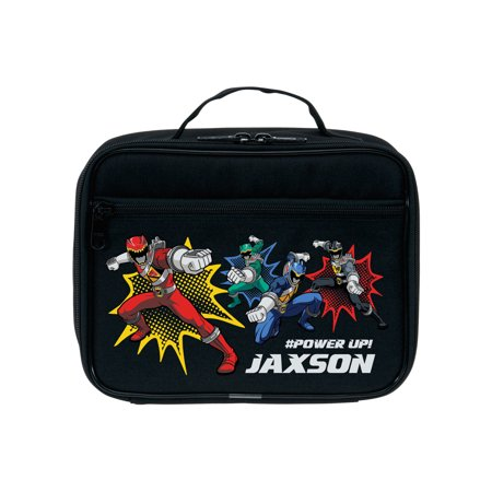 Personalized Power Rangers Dino Charge Power Up Black Kids Lunch Box
