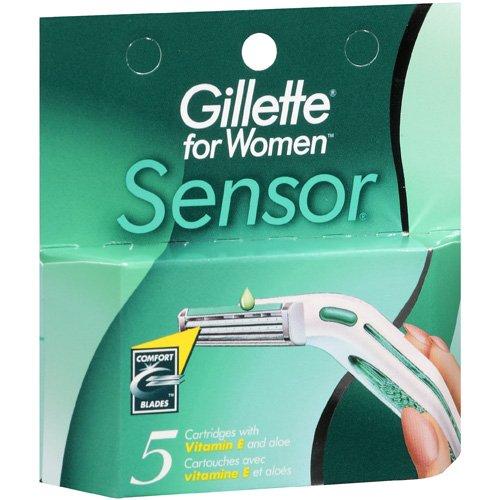 Gillette Sensor, Cartridges, For Women, 5ct