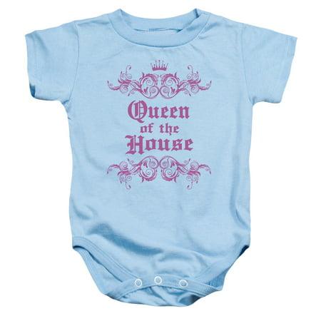 303c041e6 Trevco - Queen Of The House Onesie Trevco Light Blue Kids Unisex 100%  Cotton Short Sleeve - Walmart.com
