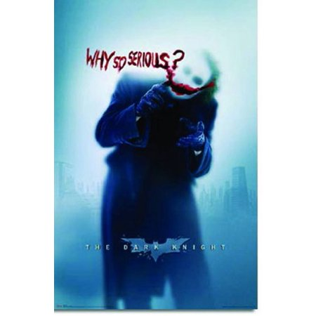Batman: The Dark Knight Movie: Joker (Heath Ledger) 'Why So Serious?' Wall Poster (Rolled) 22