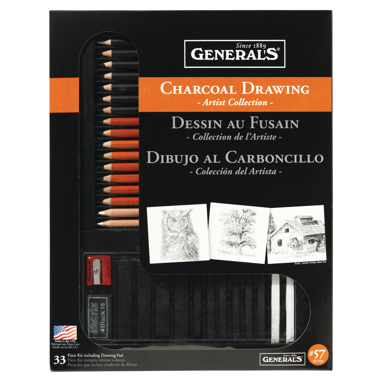 General Pencil Classic Charcoal Kit