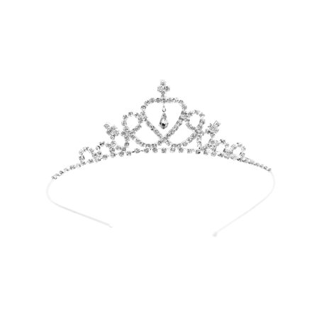 Child Tiara - Child Crystal Tiara Crown for Flower Girls Bridesmaid, Silver