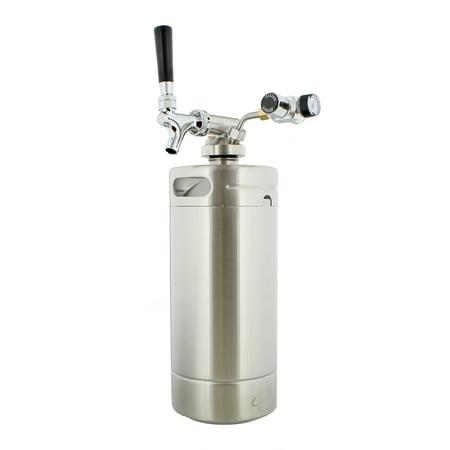 (Mini Keg with Regulator and Dispenser – Portable Keg Draft Beer Dispenser)