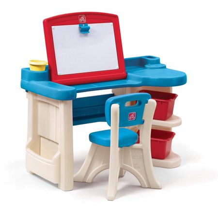 d70b97d78c50c Step2 Studio Art Desk for toddlers includes a Chair and 2 storage bins -  Walmart.com