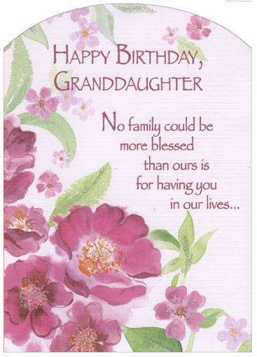 Granddaughter birthday card.