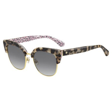 Kate Spade Women's Karri/s Cateye Sunglasses, Havana Pattern Pink/Dark Gray Gradient, 53 mm