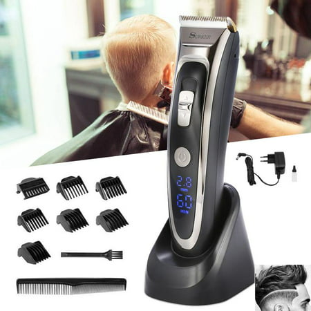 WALFRONT Hair Clipper Razor Shave,Electric clipper hair cutter hair clipper razor shave sled rechargeable low noise high precision
