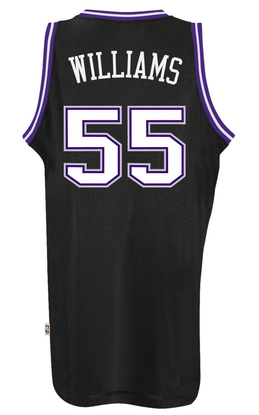 6a89ea343 Jason Williams Sacramento Kings Adidas NBA Throwback Swingman Jersey -  Black - Walmart.com