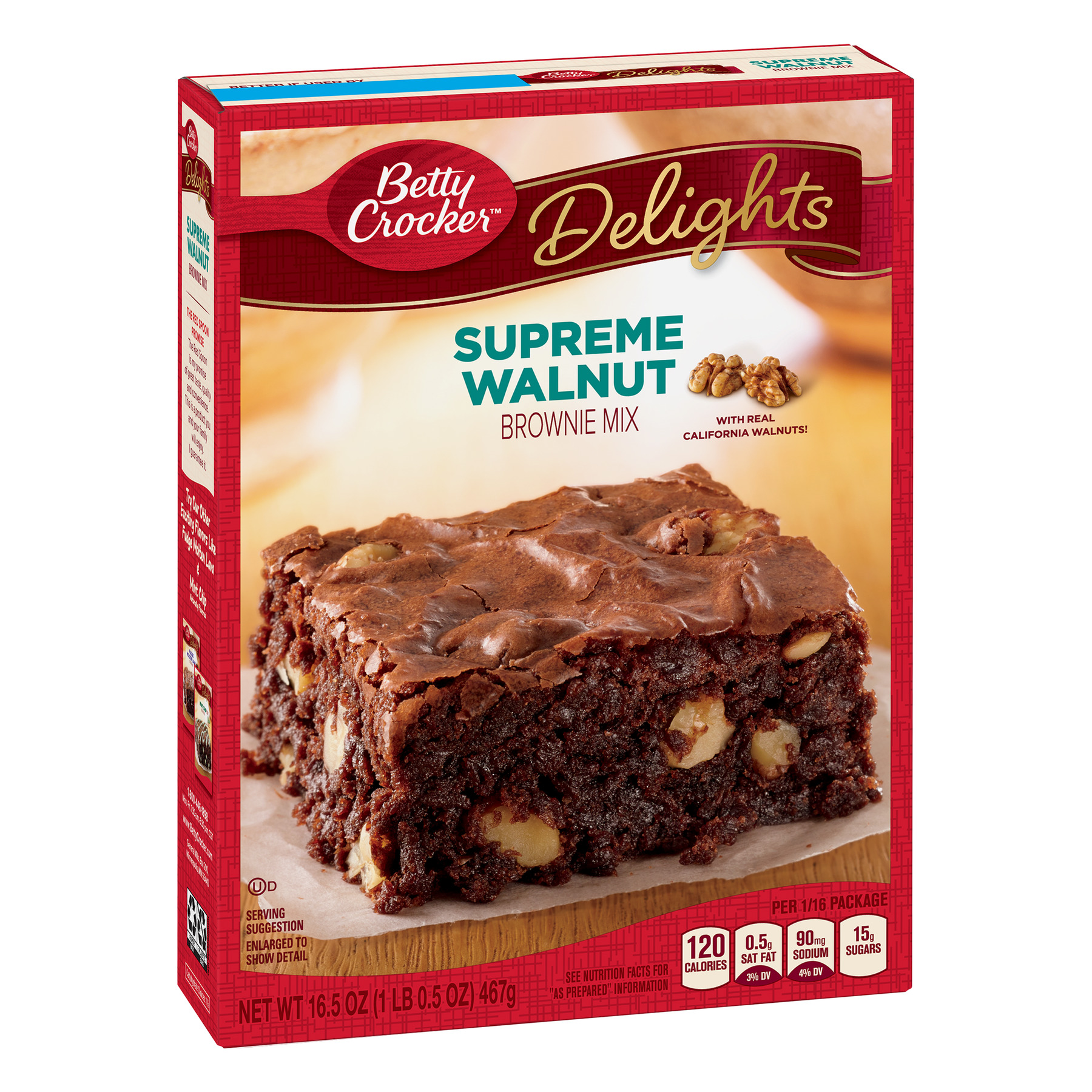 Betty Crocker Delights Brownie Mix Supreme Walnut, 16.5 oz