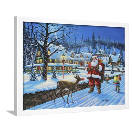 Won't Give You My Sleigh Framed Print Wall Art By Geno
