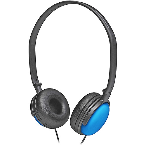 Coby Blue DJ Style Stereo Headphones, CV135BLU