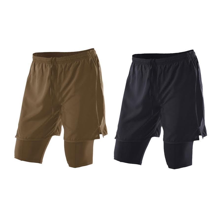Image of 2XU Military Compression X-Run Women's Shorts - Made In USA, Coyote, Large