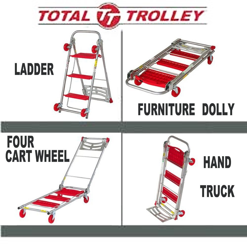 4 in 1 Moving Trolley, Step Ladder, Hand Truck, Furniture...