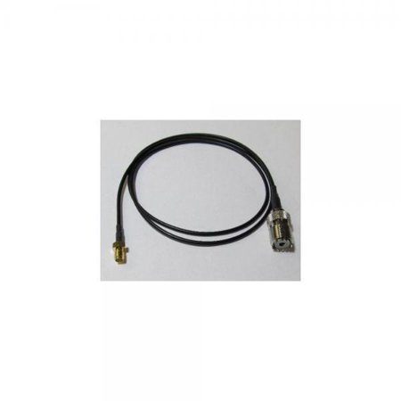 MADE IN THE USA - Handheld Antenna Adapter Cable for Wouxun Baofeng  Quasheng Linton - Connects UHF Base and Mobile Antennas - SMA Female to UHF  SO-239