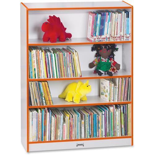 "0961JC114 Rainbow Accents Book Rack - 48"" Height x 36.5"" Width x 11.5"" Depth - Orange"
