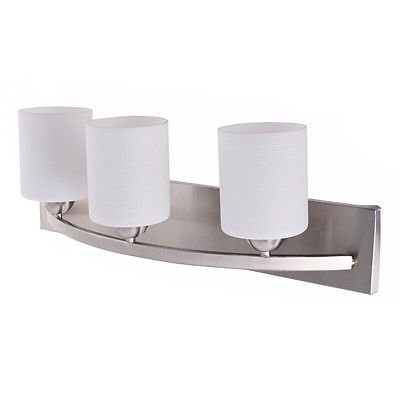 3 Light Glass Wall Sconce Modern Pendant Lampshade Fixture Vanity Metal Bathroom
