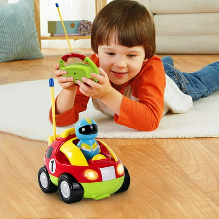 Remote Control Cars For Boys 4 Kids Baby Toddlers Cartoon Astronaut R/C Race Car Radio Control Toy Christmas Gift