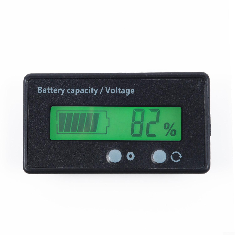 48V Waterproof LCD Indicator Car Battery Capacity Tester Lead-acid Monitor 12V