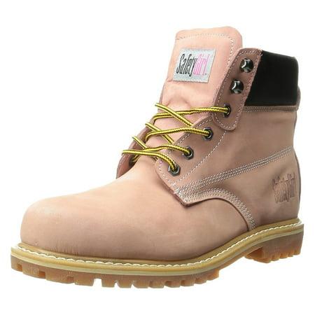 551dd3de4de SafetyGirl Steel Toe Waterproof Womens Work Boots - Light Pink - 10.5M
