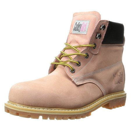 Womens Composite Toe Boot - SafetyGirl Steel Toe Waterproof Womens Work Boots - Light Pink - 10.5M
