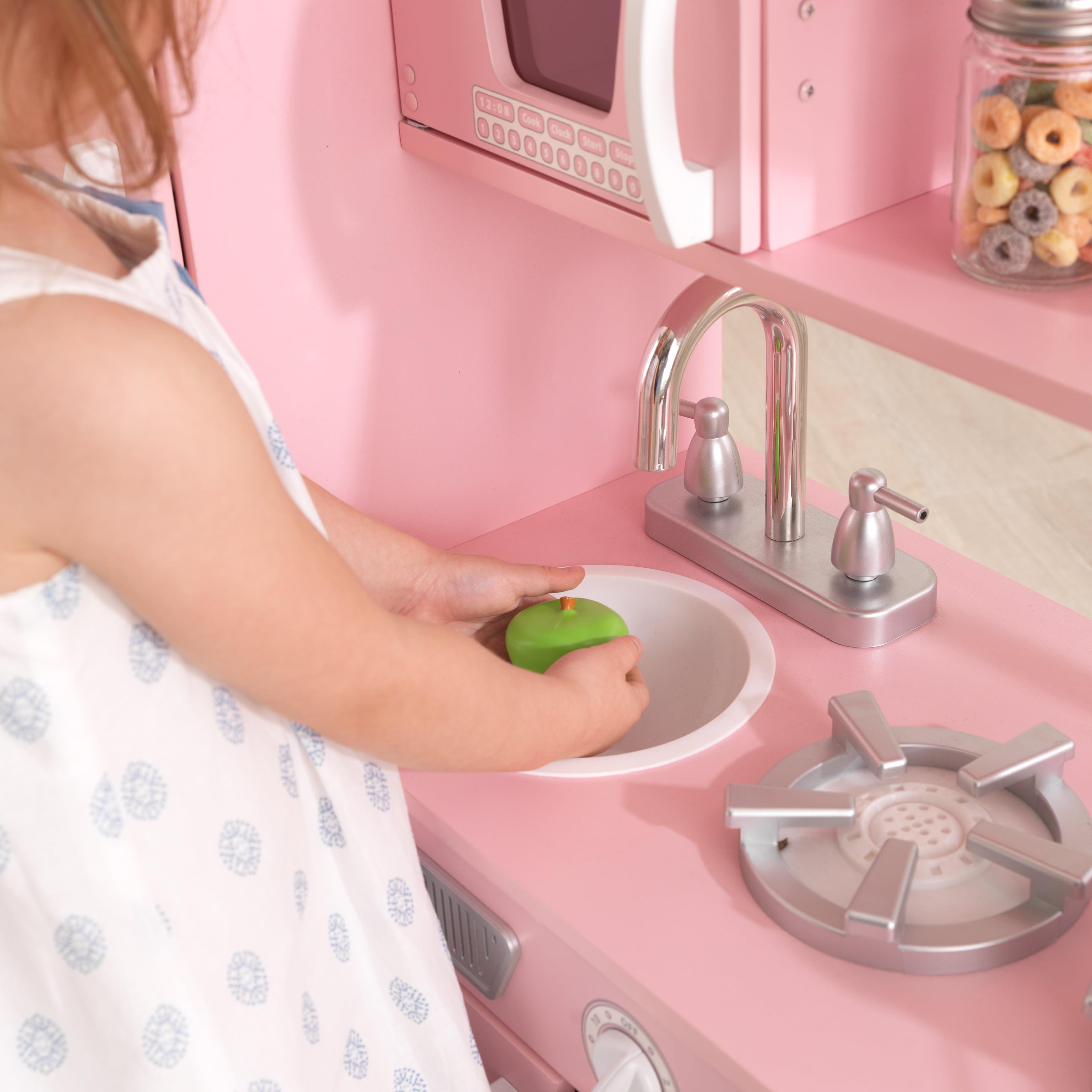KidKraft Vintage Play Kitchen - Pink - Walmart.com