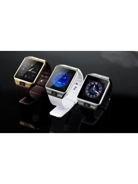Amazingforless (V-200) Premium White Bluetooth Smart Wrist Watch Phone mate for Android Samsung HTC LG Touch Screen with Camera