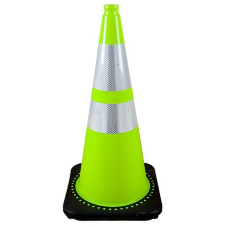 28in. Fluorescent Cone with 4in. & 6in. Reflective Collars - Green - image 1 of 1