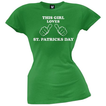 St. Patricks Day - This Girls Loves St. Patrick's Day Juniors T-Shirt