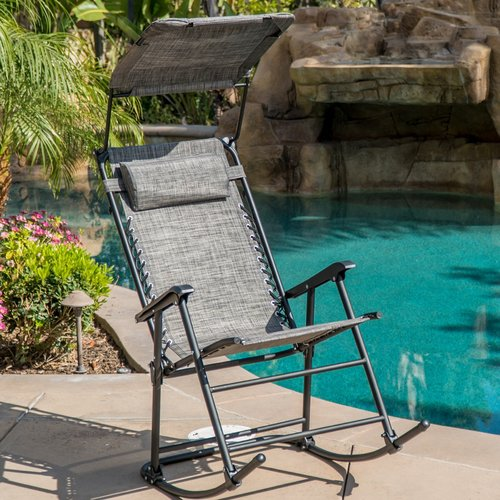 Freeport Park Hadley Shade Block Folding Rocking Chair