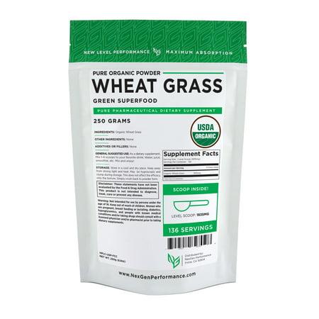 Organic Wheat Grass Powder 250g (8.8oz) | Nutrient Rich | Antioxidant | Heart-healthy