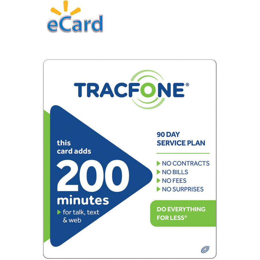(Email Delivery) TracFone 200 Minute/90 days $39.99