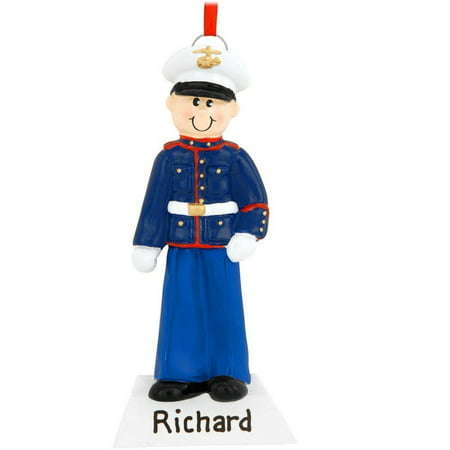 Marine Personalized Christmas Ornament