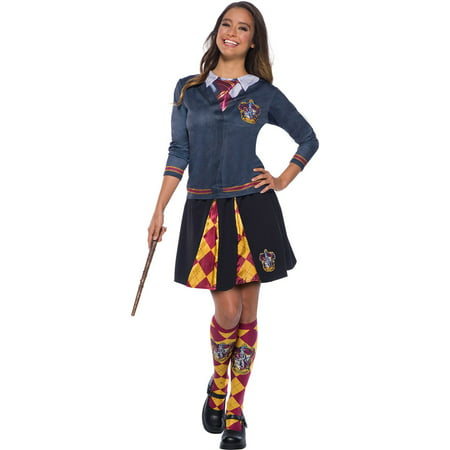 The Wizarding World Of Harry Potter Adult Gryffindor Halloween Costume Top (Woman Wizard Costume)