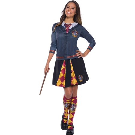 The Wizarding World Of Harry Potter Adult Gryffindor Halloween Costume Top - List Of Halloween Costumes For Adults