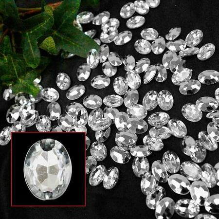 Efavormart DIVA LIFESTYLE Endless Diamond Rhinestones 470/pk Oval-Cut Clear