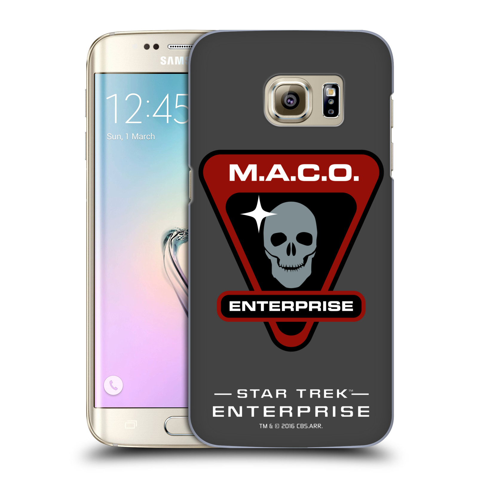 OFFICIAL STAR TREK MIRROR UNIVERSE BADGES ENT HARD BACK CASE FOR SAMSUNG PHONES 1