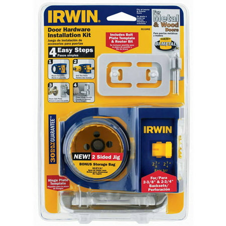 Irwin 2-3/4 in. L Bi-Metal Door Lock Installation Kit 1 pc.