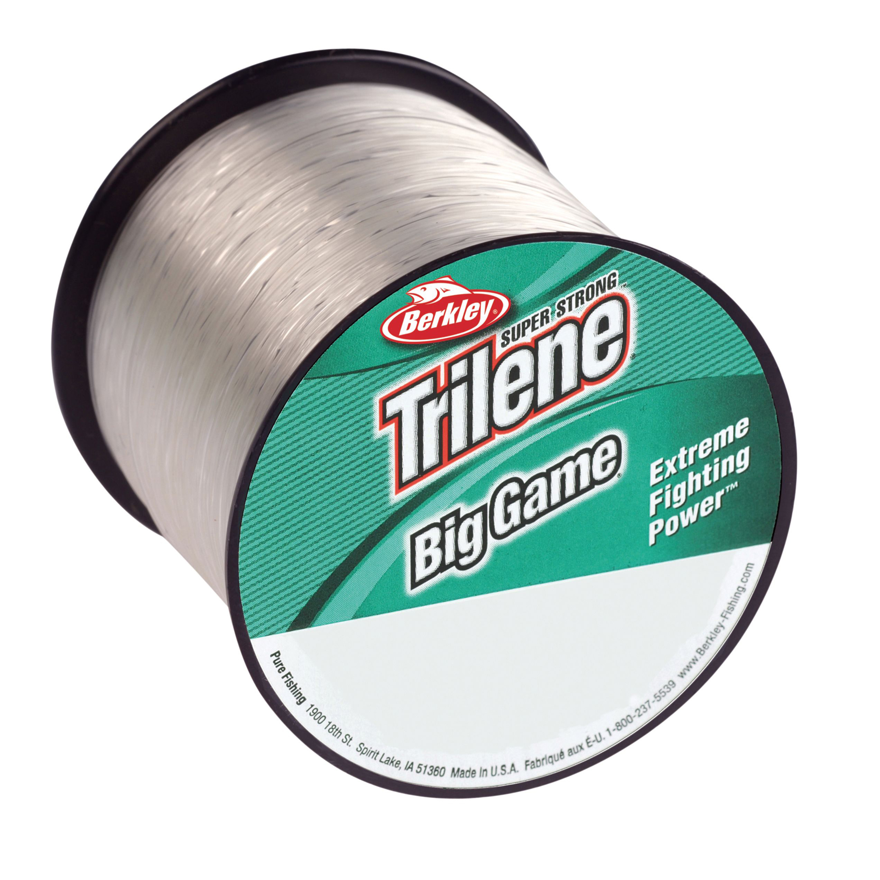 "Berkley Trilene Big Game Monofilament Line Spool 1500 Yards, 0.012"" Diameter, 10 lb Breaking Strength, Clear"