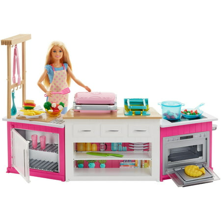Barbie Ultimate Kitchen Cooking & Baking Playset with Chef - Halloween Costumes For Barbie Dolls