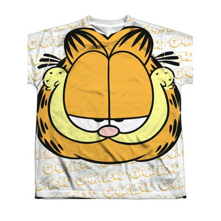 6f9f57e4eba6 Garfield - Big Face Big Boys Sublimation Shirt - Walmart.com