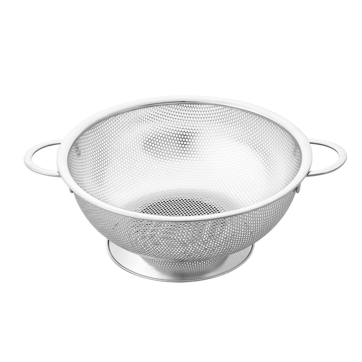 Cook N Home 3 Quart Micro Perforated Colander, Stainless Steel by Neway International Inc