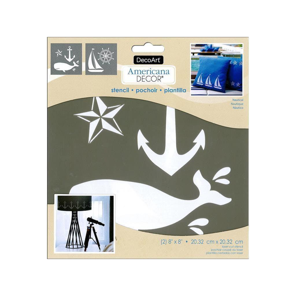 Americana Decor Stencil Nautical 8 In X 8 In 2 Pieces Walmart Com Walmart Com