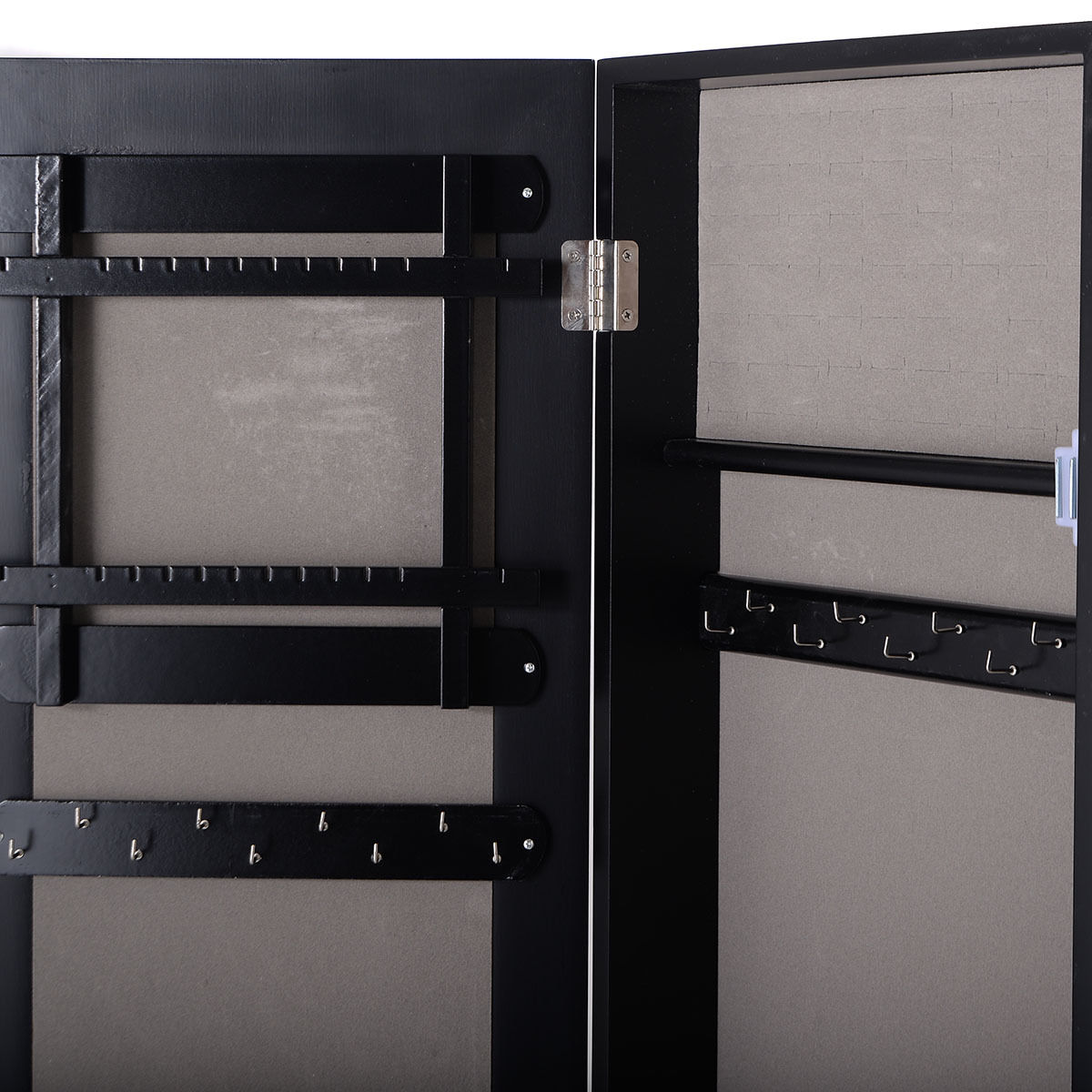 Costway Mirrored Jewelry Cabinet Armoire Mirror Organizer Storage