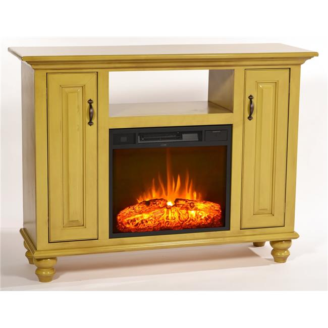 Eagle Furniture FP384054SW 52 in. Orleans Electric Fireplace TV Console, Soft White
