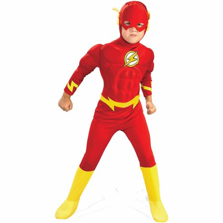 Flash Deluxe Muscle Child Halloween Costume (Retro Basketball Halloween Costumes)