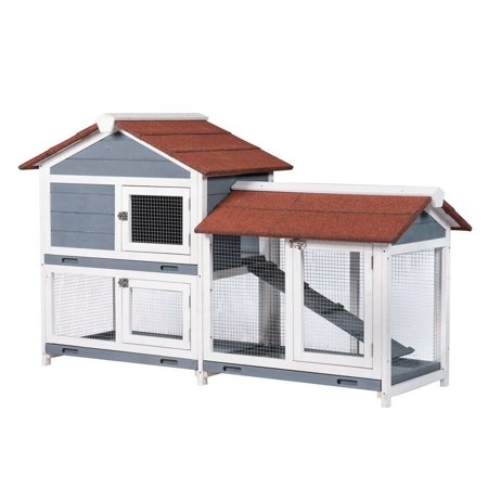 Good Life Wooden Waterproof Rabbit Hutch Pet House ()