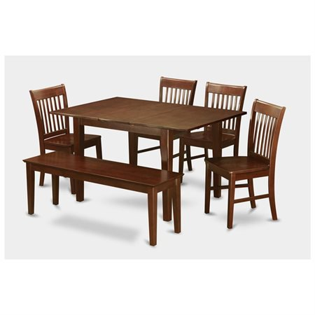 mah w 6 piece dining small table set table with 4 dining room chairs